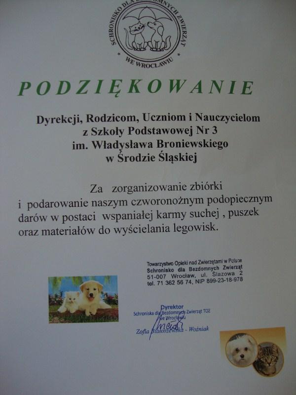 LOP zSP3 pomaga zwierzętom