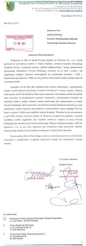 Sprawa średzkiego szpitala - komunikat Starostwa Powiatowego