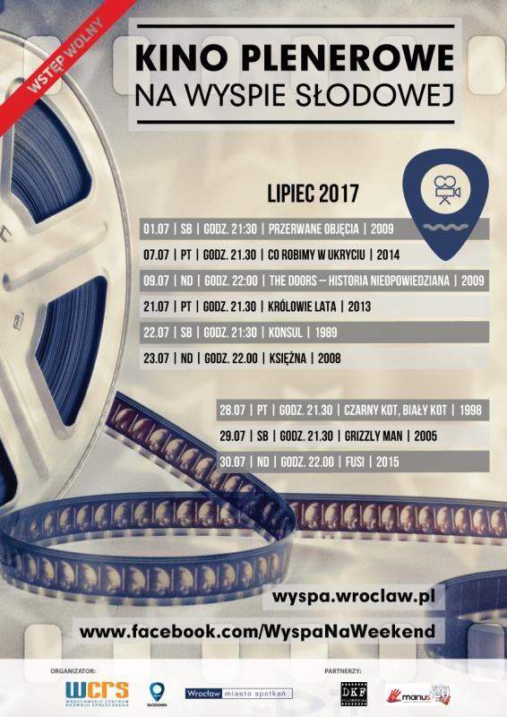 Kino Plenerowe na Wyspie Słodowej – wwakacyjne weekendy