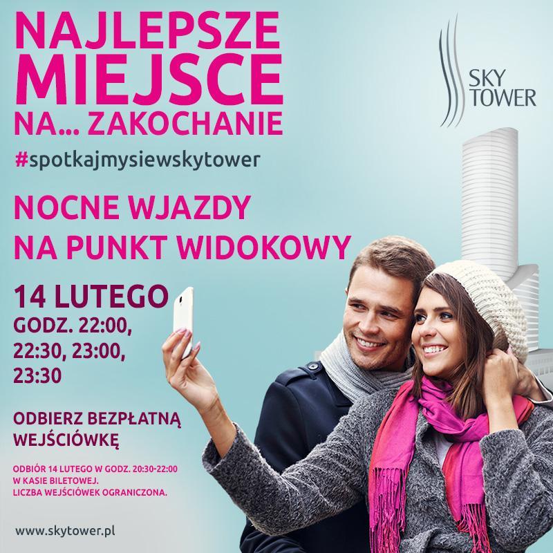 Walentynkowe wjazdy na Punkt Widokowy Sky Tower