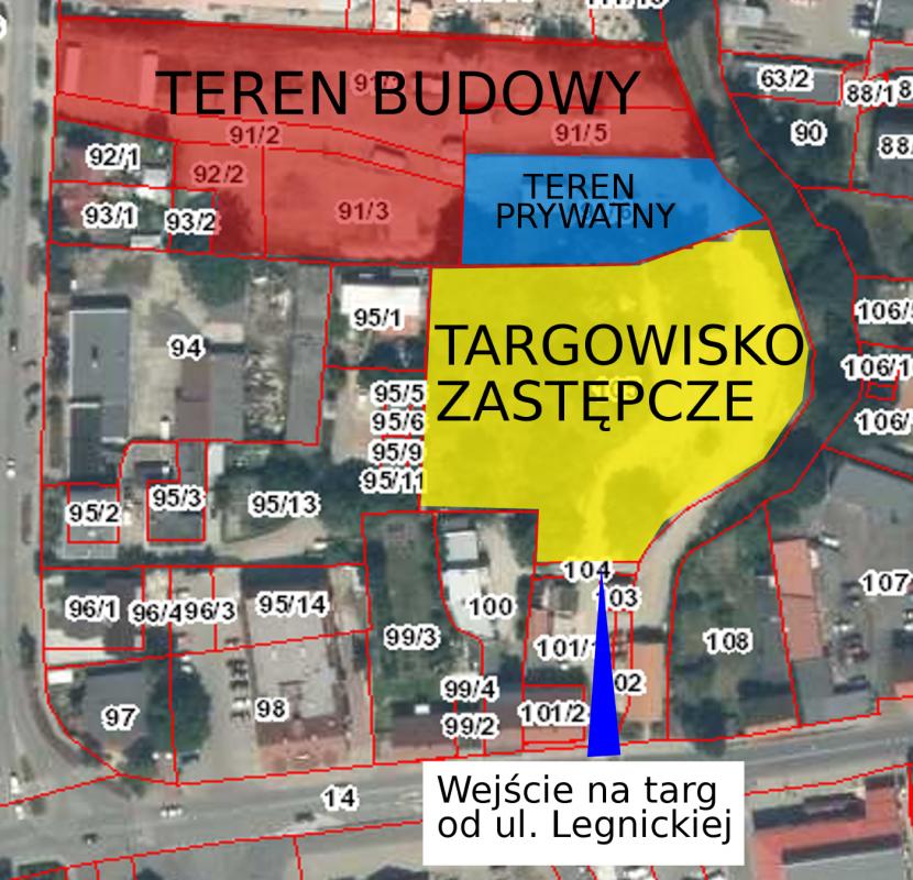 Ważna informacja dotycząca targowiska wŚrodzie Śląskiej – zobacz plakaty!