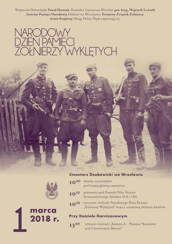 Narodowy Dzień Pamięci Żołnierzy Wyklętych – 1 marca 2018