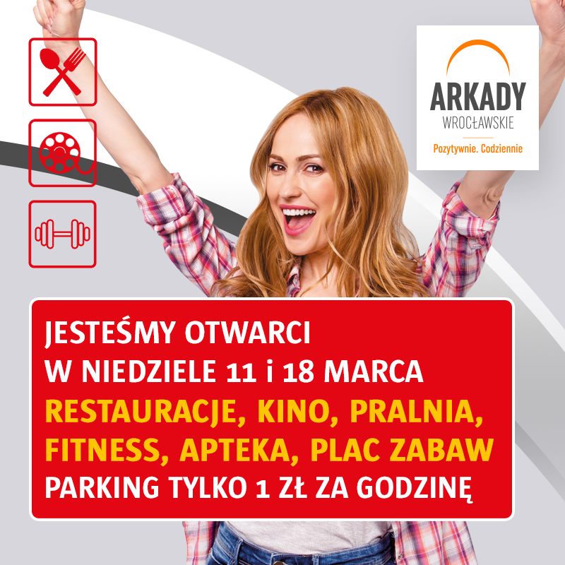 Arkady Wrocławskie zapraszają wniedziele niehandlowe