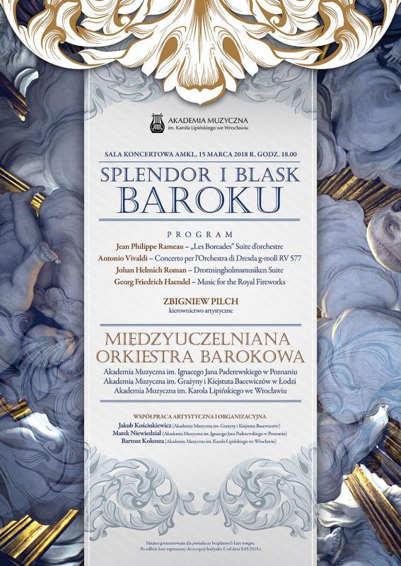 Koncert Międzyuczelnianej Orkiestry Barokowej SPLENDOR IBLASK BAROKU