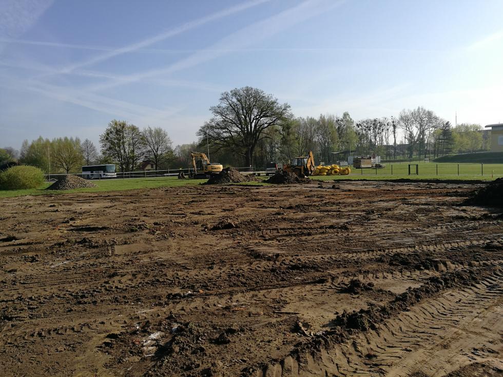 Budowa boiska wtoku