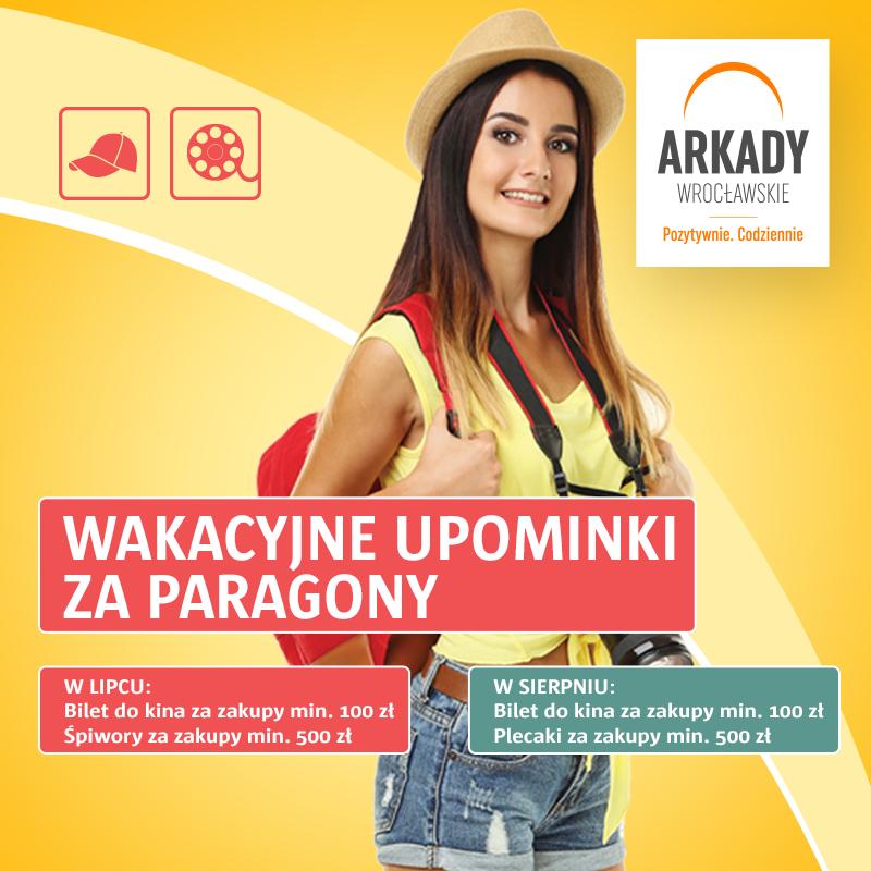 Lipcowe promocje paragonowe wArkadach Wrocławskich