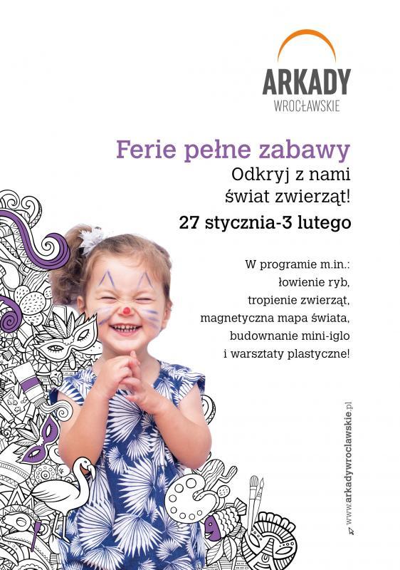 Na pierwszy tydzień ferii Arkady Wrocławskie zamienią się wkrólestwo zwierząt