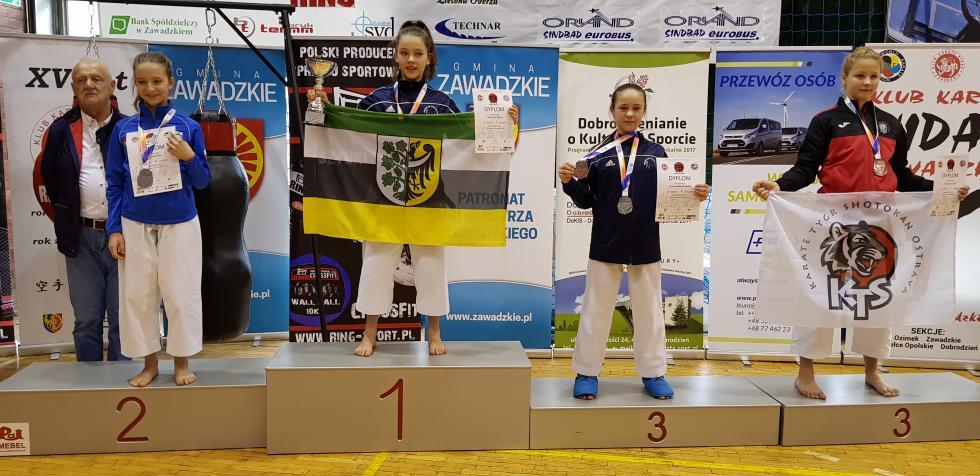 11 medali karateków wZawadzkiem