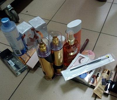Kradły kosmetyki