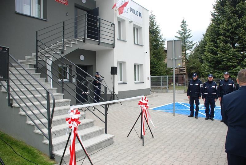 Otwarcie wyremontowanego budynku Posterunku Policji wMiękini