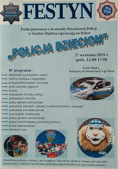Zaproszenie na festyn policyjny