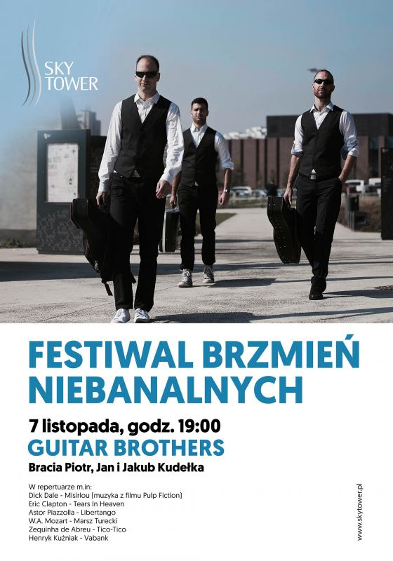 Instrumentalne trio Guitar Brothers wSky Tower