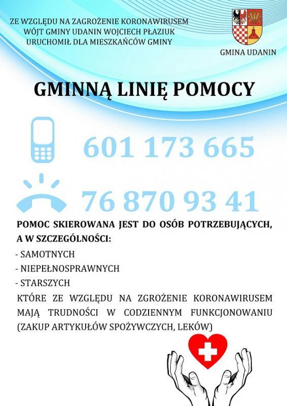 Raport nt. działań zapobiegających rozprzestrzenianiu się koronawirusa wGminie Udanin