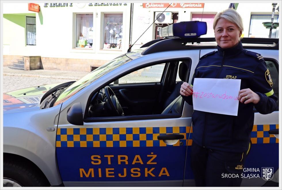 Akcja pozostań wdomu ze wsparciem Straży Miejskiej