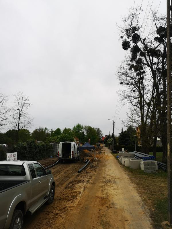 Trwa przebudowa drogi Miękinia-Klęka
