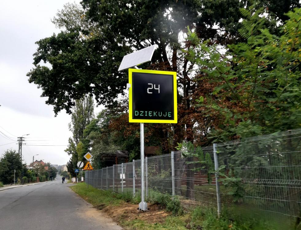 W Malczycach zamontowano rejestrator prędkości, wkrótce podobny pojawi się wWilczkowie