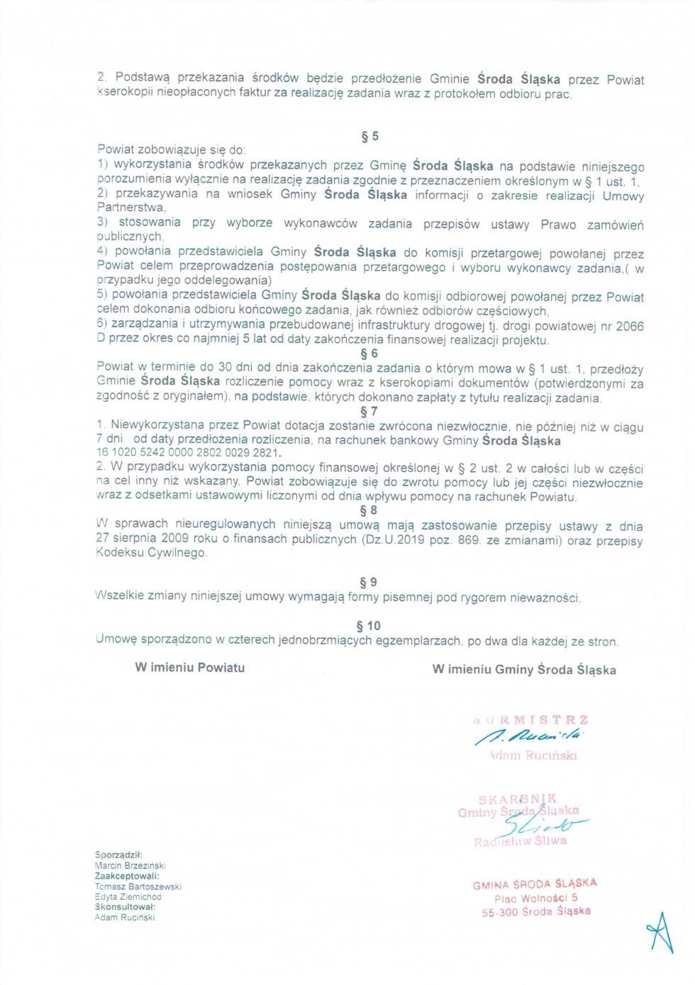 Ad vocem ws. pomocy finansowej na przebudowę drogi powiatowej Środa Śl.-Jastrzębce-Chomiąża-Malczyce