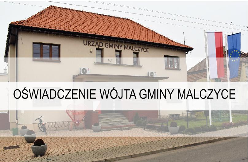 Oświadczenie wójta gminy Malczyce
