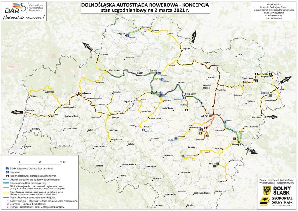Zarys Koncepcji Realizacji Projektu Dolnośląskiej Autostrady Rowerowej – trasa przez gminę Malczyce