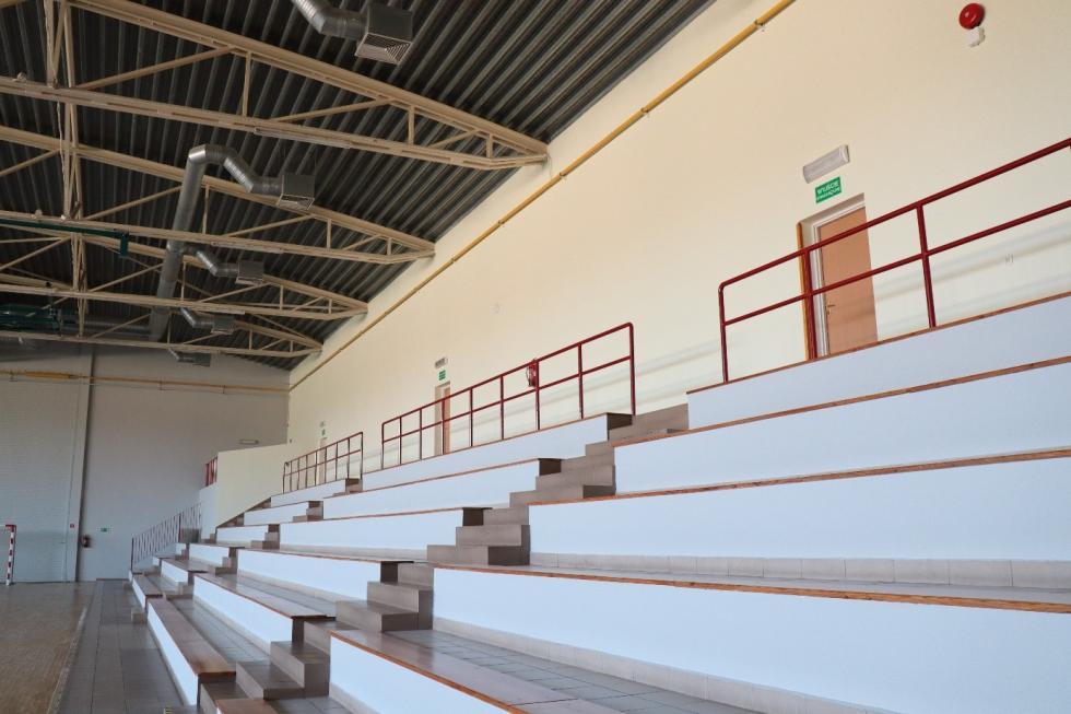 Nowe kolory wsali gimnastycznej SP 3 przy ul. Górnej