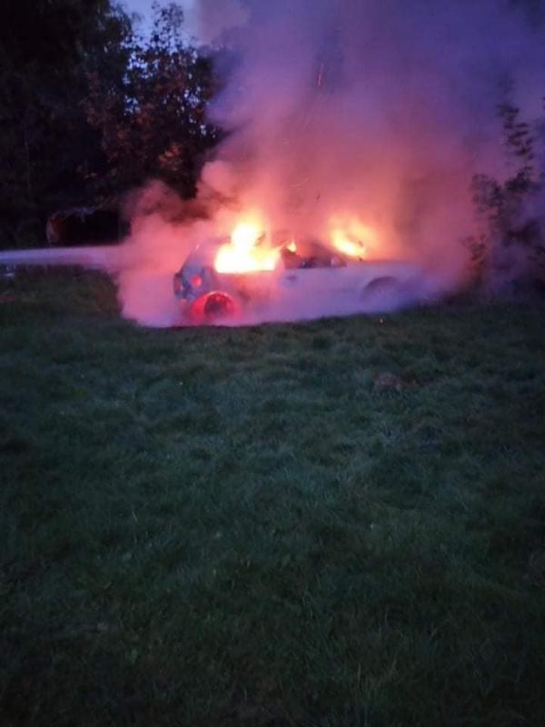 Palił się samochód