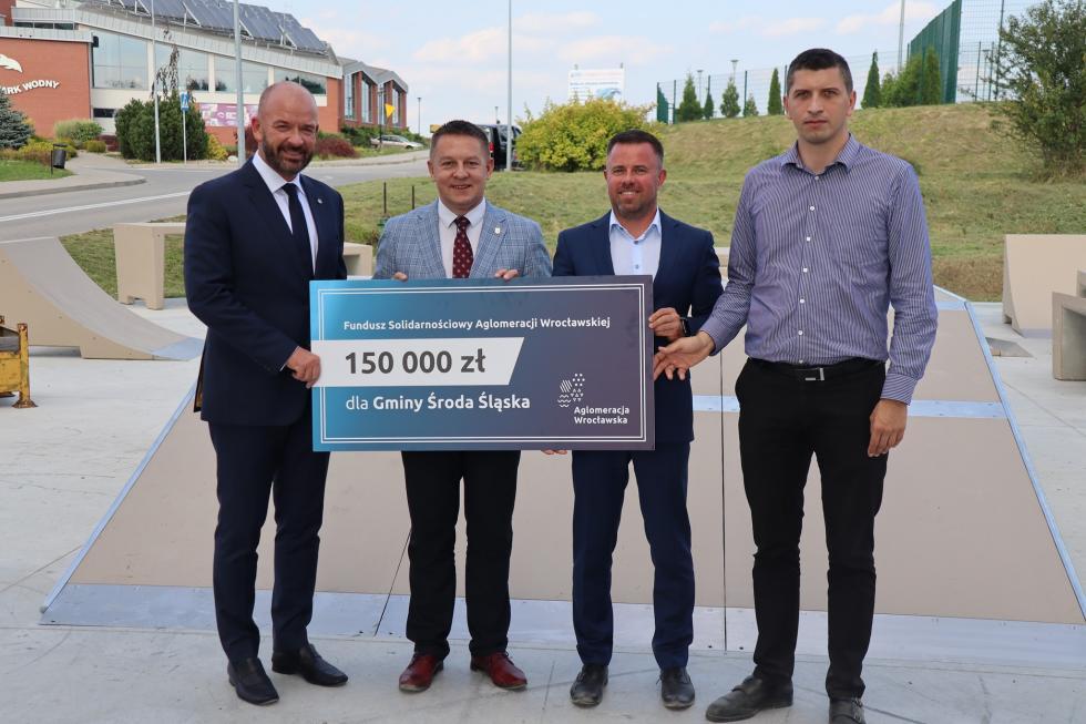 Wsparcie Aglomeracji Wrocławskiej dla średzkiego skateparku