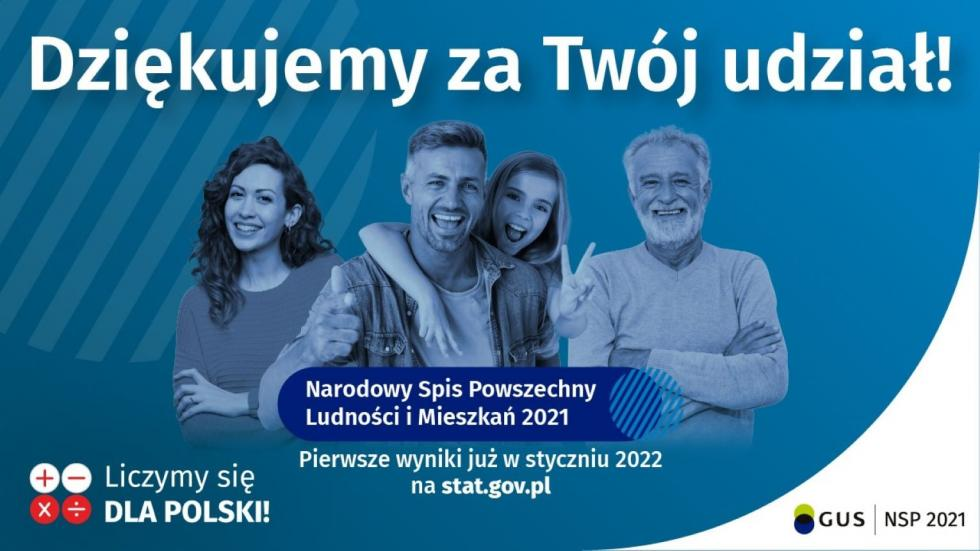 I miejsce gminy Udanin wNarodowym Spisie Powszechnym Ludności iMieszkań 2021