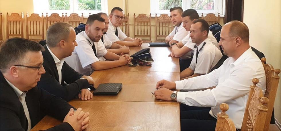 Strażackie spotkanie zposłem